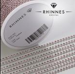 Zdjęcie - Taśma z kryształkami kolor srebrny amethyst rose 2mm