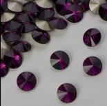 Zdjęcie - Swarovski rivoli stone amethyst 8mm