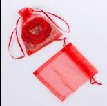Zdjęcie - Woreczki z organzy czerwone 10x12cm