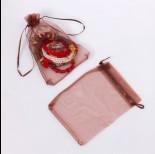 Zdjęcie - Woreczek z organzy do biżuterii 13x18cm brązowy