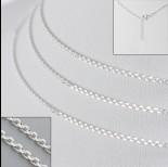 Zdjęcie - Srebrna bransoletka simple z przedłużką, Ag925 18cm