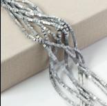 Zdjęcie - Hematyt kostka platerowana matowa srebrna 3x3mm