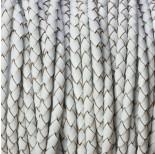 Zdjęcie - Rzemień naturalny pleciony pastelowy biały 3.5mm