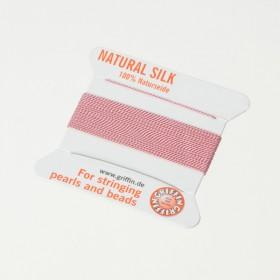 Zdjęcie - Nici jedwabne z igłą dark pink 0,5 mm