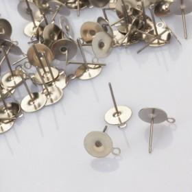 Zdjęcie - Sztyfty z talerzykiem do naklejania i podwieszania ze stali chirurgicznej 8mm