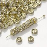 Zdjęcie - Przekładka z kryształkami rondelek crystal  5mm