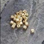 Zdjęcie - Srebrna satynowa kosteczka Ag925 pozłacana 4mm