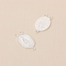 Zdjęcie - Srebrny łącznik Matka Boska z trzema oczkami AG925 23x13mm