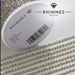 Zdjęcie - Taśma z kryształkami kolor złoty sapphire AB 2mm