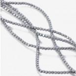 Zdjęcie - Hematyt platerowany wielokąt matowy srebrny 3x3mm