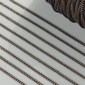 Zdjęcie - Łańcuszek pancerka dodatkowo platerowana w kolorze czarno-złotym 1.4mm