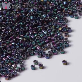 Zdjęcie - Koraliki Miyuki Delica 11/0 Metallic Purple/Green Gold Iris