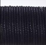 Zdjęcie - Rzemień klejony czarny w błyszczące cętki 4mm
