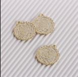 Zdjęcie - Zawieszka emaliowana róża biały 20mm