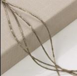Zdjęcie - Hematyt platerowany słupek kwadratowy oliwkowy mat 3x1mm