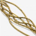 Zdjęcie - Hematyt platerowany kostka matowa złota 2x2mm