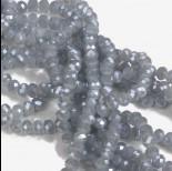 Zdjęcie - Oponki fasetowane grey ceramic 4x6mm
