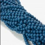 Zdjęcie - Koraliki szklane powlekane modre 8mm