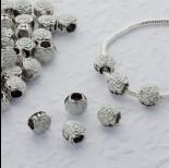 Zdjęcie - Koralik emaliowany biała róża 5mm