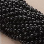 Zdjęcie - Perły szklane czarne 8mm