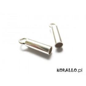 Zdjęcie - Srebrne końcówki do linek i rzemieni 2,5mm, próba Ag925 2,5mm