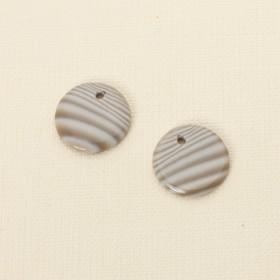 Zdjęcie - Krzemień pasiasty komplet do kolczyków 20 mm