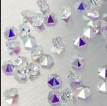 Zdjęcie - 5060 Hexagon Spike bead crystal AB 7.5mm