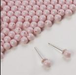 Zdjęcie - 5818 round pearl do kolczyków pastel rose 4mm