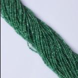 Zdjęcie - Onyks zielony kulka fasetowana 3mm