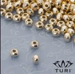 Zdjęcie - Koralik oponka ze ściętymi krawędziami w złotym kolorze 4x3mm
