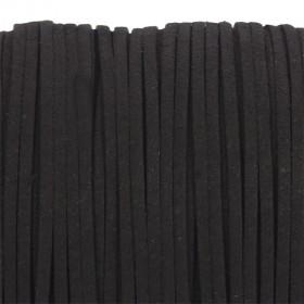 Zdjęcie - Rzemień zamszowy płaski czarny 1x2,5mm