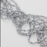 Zdjęcie - Kryształki oponki fasetowane half silver 2x3mm