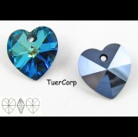 Zdjęcie - Swarovski heart 14mm bermuda blue