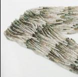 Zdjęcie - Agat mszysty kulka fasetowana cieniowana zielona 2mm 32cm