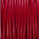 Zdjęcie - Sznurek bawełniany woskowany czerwony 2mm