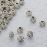 Zdjęcie - Koralik oponka z kryształkami multi crystal 4mm