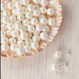 Zdjęcie - Perła majorka kulki do kolczyków białe 10mm