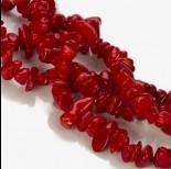 Zdjęcie - Koral bambusowy kamyczki nieregularne czerwone 8-22mm