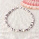 Zdjęcie - Perły majorka kulki miksowane srebrno-białe 40cm