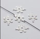 Zdjęcie - Rozgałęźnik kwiatek ażurowy srebrny 22 mm