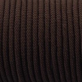 Zdjęcie - Sznurek pleciony 4mm brązowy matowy