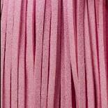 Zdjęcie - Rzemień zamszowy płaski metalizowany różowy 2,5x1mm