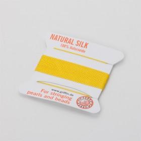 Zdjęcie - Nici jedwabne z igłą yellow 0,5mm