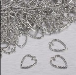 Zdjęcie - Zawieszka podłużne serduszko w srebrnym kolorze 21x15.5mm