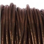 Zdjęcie - Rzemień szyty brown metallic 6mm