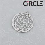 Zdjęcie - Zawieszka okrągła wycinana mandala stal chirurgiczna z kółeczkiem 20mm