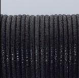 Zdjęcie - Rzemień klejony czarny w błyszczące plamki 3mm