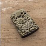 Zdjęcie - Zawieszka z obsydianu złotego ręcznie rzeźbiona 54mm