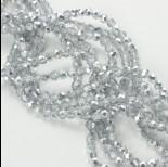 Zdjęcie - Kryształki kulki fasetowane half silver 4mm