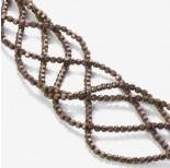 Zdjęcie - Hematyt platerowany wielokąt matowy brązowy 3x3mm